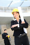 Woman Architect on Construction Site Stock Photography