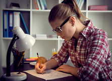 Woman architect drawing sketch Royalty Free Stock Photos