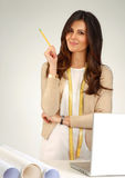 Woman architect. Royalty Free Stock Photo