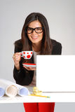 Woman architect. Stock Photography