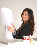 Woman architect. Royalty Free Stock Images