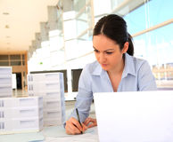 Woman architect in office Stock Photography