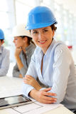 Woman architect in office Royalty Free Stock Image