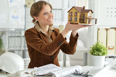 Woman architect in offive Stock Image