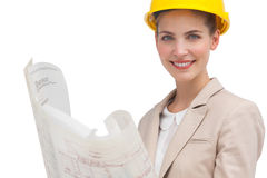 Woman architect smiling Stock Image