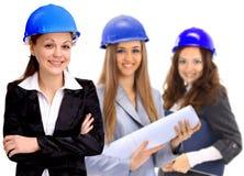 Woman architect team Stock Photo
