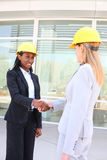 Woman Architect Team on Site Stock Photography