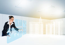 Woman architect Royalty Free Stock Photography
