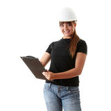 Woman architects isolated Royalty Free Stock Photos