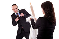 Woman arguing with her husband royalty free stock photos