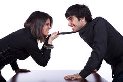 Woman arguing with a men Royalty Free Stock Image
