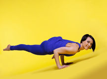 Woman arm balance yoga - Eka Pada Koundiyanasana Stock Photography