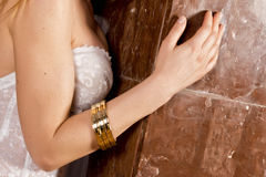 Woman arm and breast Stock Photo