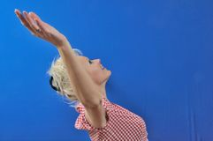 Woman arm up Royalty Free Stock Photo
