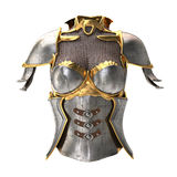 Woman armor 3d illustration isolated on white background Royalty Free Stock Photos