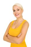 Woman with arms crossed Stock Photography