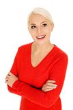 Woman with arms crossed Royalty Free Stock Image
