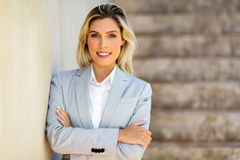 woman with arms crossed Stock Image