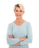 Woman with arms crossed Royalty Free Stock Images