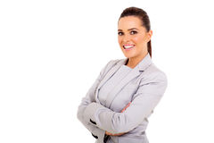 Woman arms folded Stock Photo