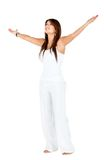 Woman with arms open Stock Photos