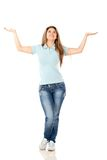 Woman with arms open Royalty Free Stock Image