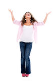Woman with arms open Stock Image