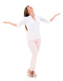 Woman with arms open Royalty Free Stock Photos