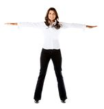 Woman with arms outstretched Stock Photos