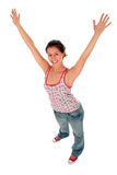 Woman with arms outstretched Royalty Free Stock Photography
