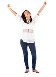 Woman with arms up Royalty Free Stock Photography