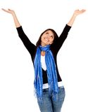 Woman with arms up Royalty Free Stock Image