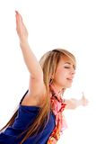 Woman with arms up Royalty Free Stock Photo