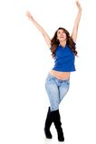Woman with arms up Stock Photography