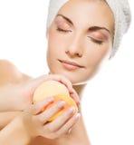 Woman with aroma bath ball Stock Photo