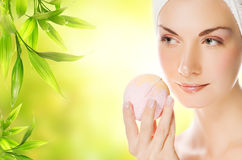 Woman with aroma soap Royalty Free Stock Photo