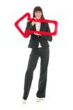 Woman with arrow Stock Photos