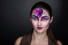 Woman with art make up Royalty Free Stock Photos