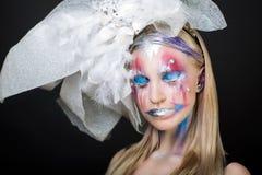Woman art make up Stock Photo