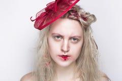 Woman art make up royalty free stock photography