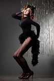Woman with art visage - burlesque Royalty Free Stock Photo