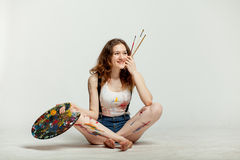 Woman artist Stock Photos