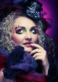Woman with artistic make-up. Stock Photography