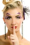 Woman with artistic make-up Royalty Free Stock Photography