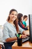 Woman as call center service operator. Or customer service representative Royalty Free Stock Photos