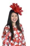 Woman as a Christmas Gift Stock Image