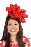 Woman as a Christmas Gift Royalty Free Stock Images
