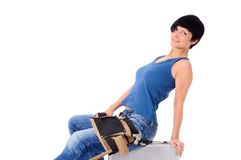 Woman as a craftsman Royalty Free Stock Images