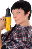 Woman as a craftsman Stock Photography