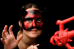 Woman as the devil. Stock Photo